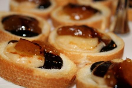 French baguette, with Parmigiano Reggiano Cheese, Italian Organic Fig preserve and Balsamic Glaze