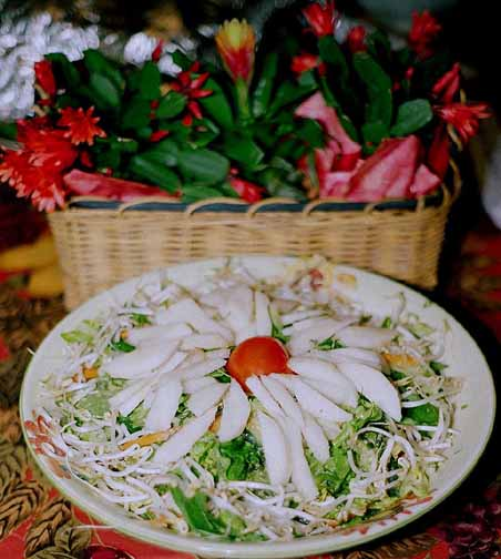 Vietnamese Bean Sprout Salad with Lime and Crushed Peanut Vinaigrette