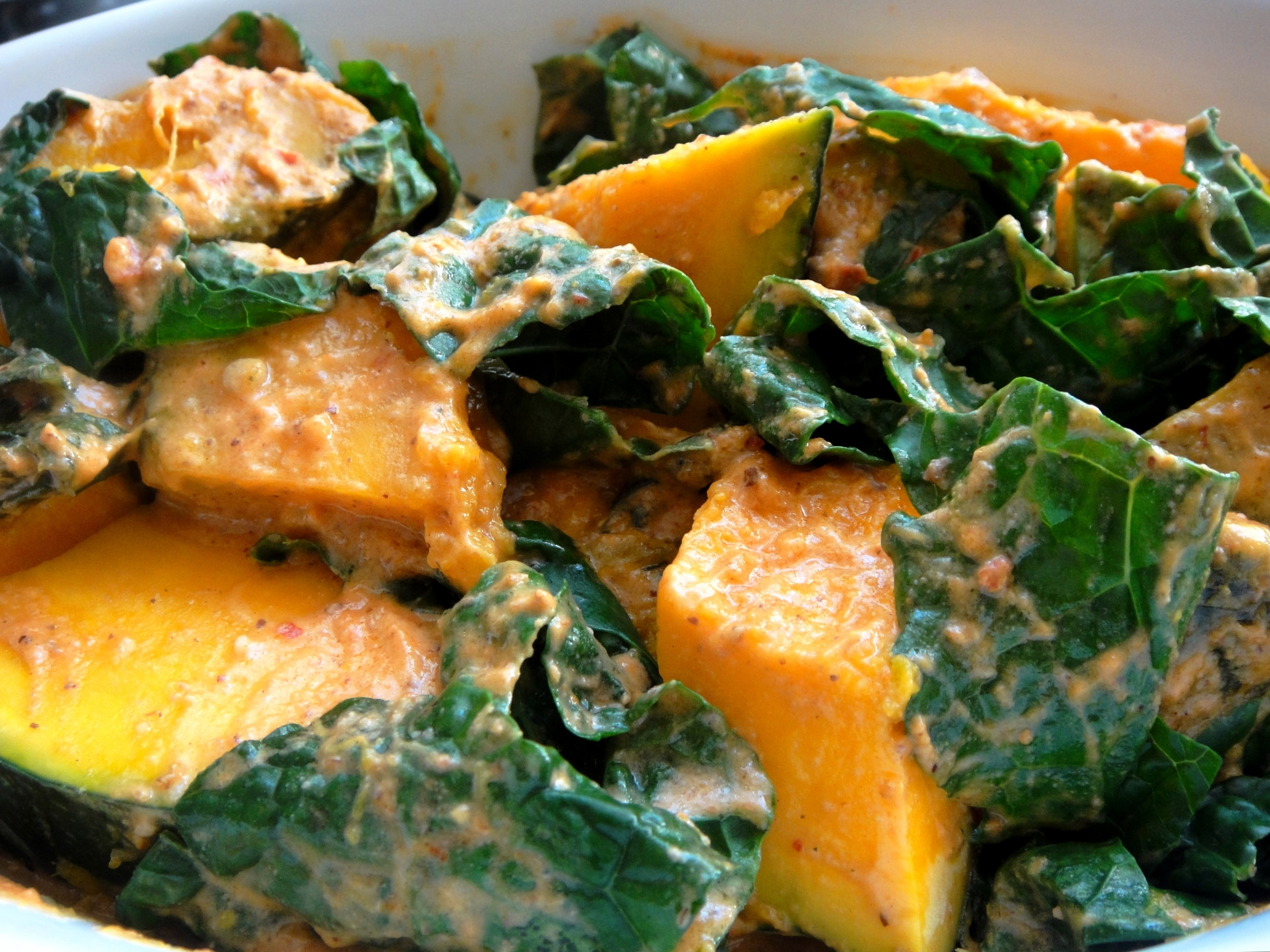 Curried Kabocha and Kale