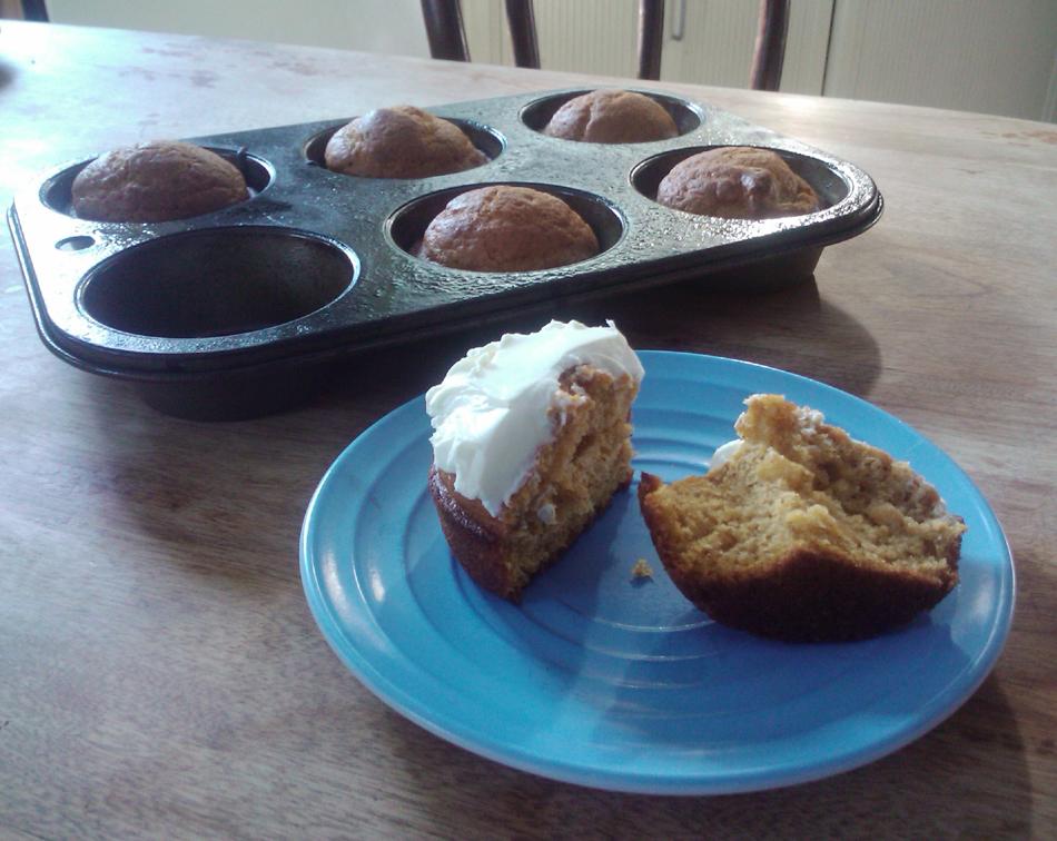 Birthday Pumpkin Muffins