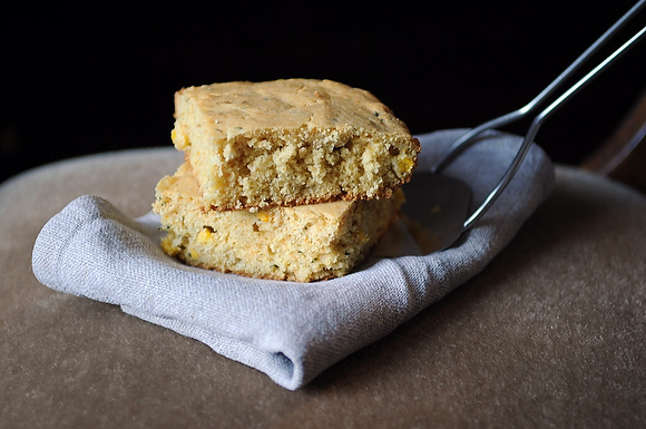 Double-Corn Corn Bread with Fresh Thyme from Food52
