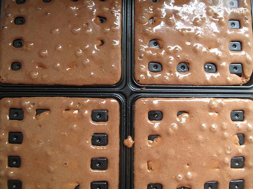 Chocolate and Cardamom waffles