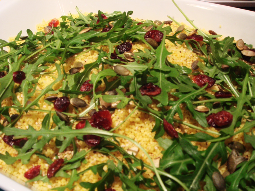 Sumac and Turmeric Couscous Salad with Rocket and Cranberries
