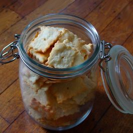 Olive Oil Parmesan Crackers