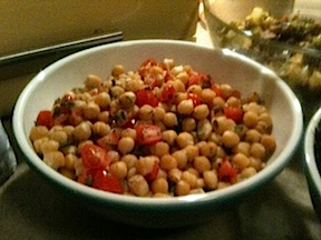 Chickpea salad with Tomatoes and Mint (Vegan, Gluten Free)