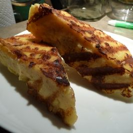 Pancetta and Cheese Grilled Polenta Wedges