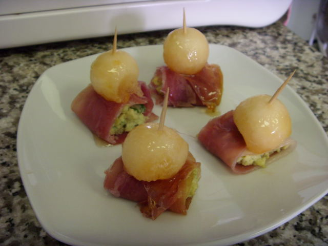 Parma Ham and Blue Cheese Roll