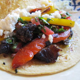 J.R.s Roasty Rib Tacos with Chimichurri Sauce
