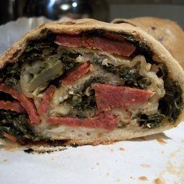 Kale, Chorizo, and Manchego Stromboli