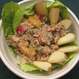 Crispy, crunchy, apple-quinoa salad