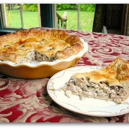 Chanterelle Chicken Mushroom Pie