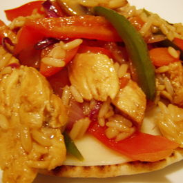 chicken pita stir fry