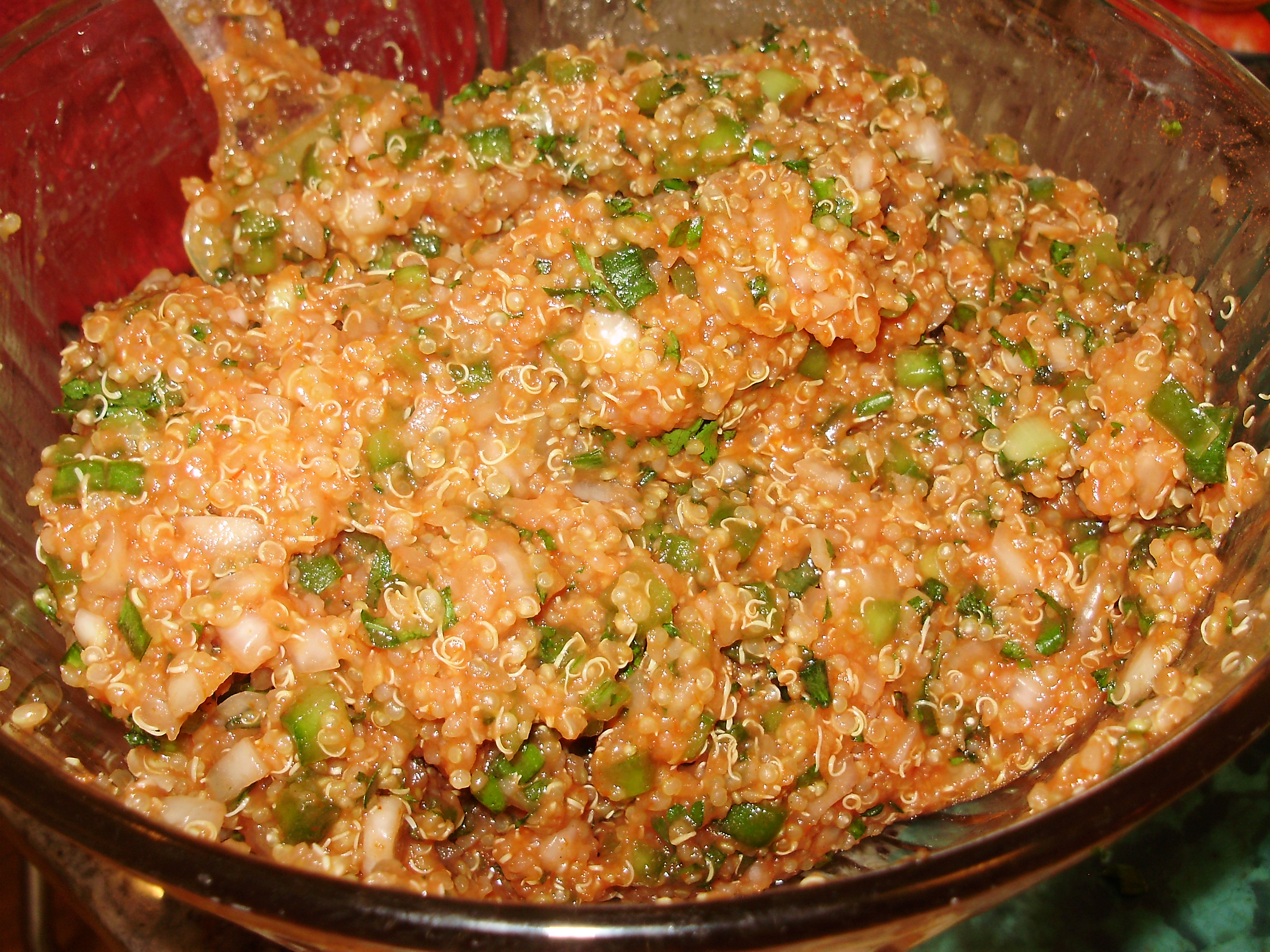 Quinoa Eetch  (Red Quinoa Tabouli)