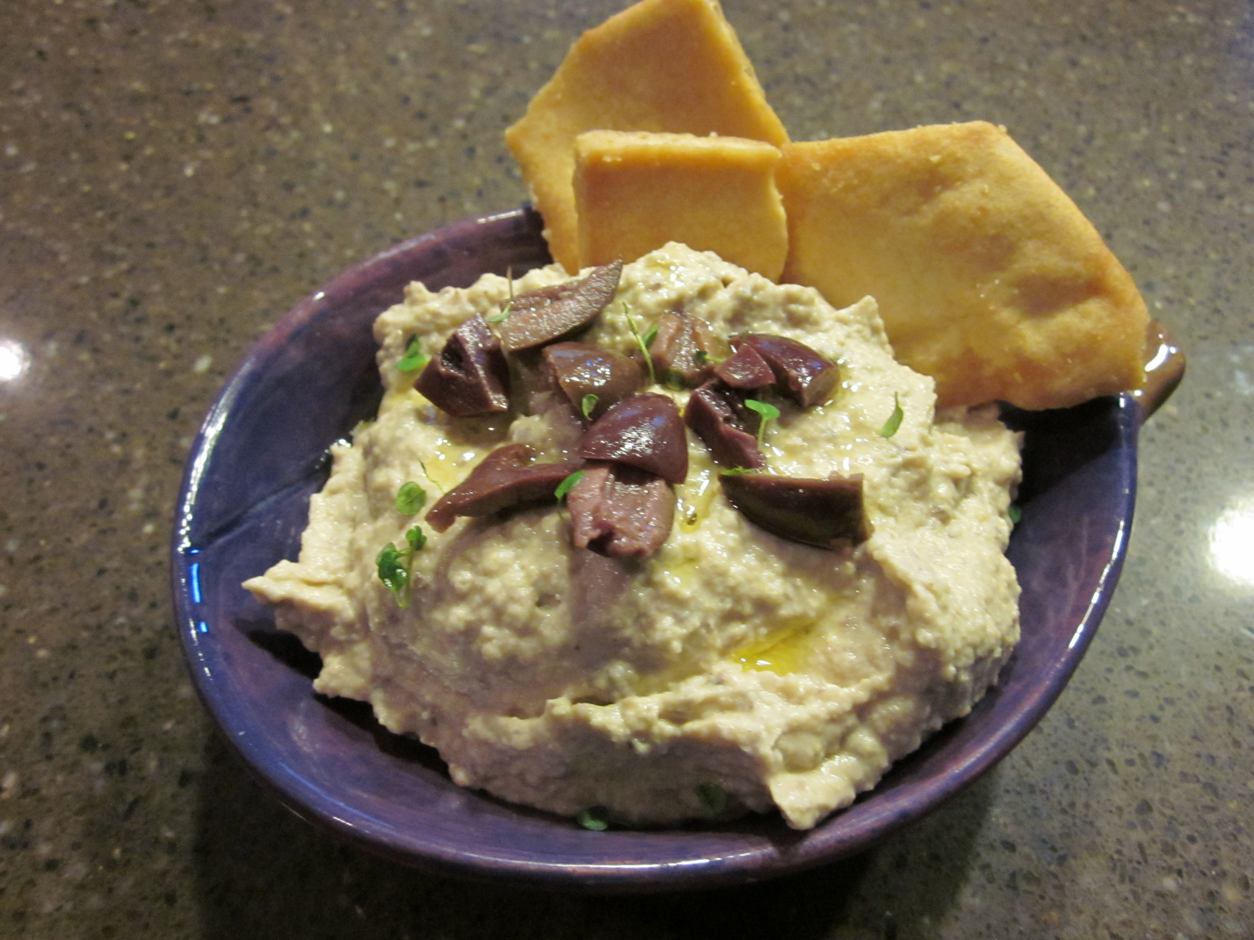 Roasted Meyer Lemon, Artichoke and Kalamata Hummus
