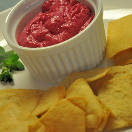 Roasted Beet and Onion Dip
