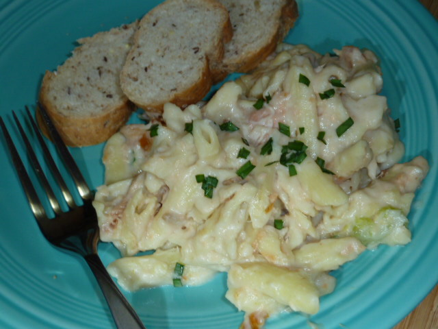 Penne with Smoked Salmon and Horseradish Sauce