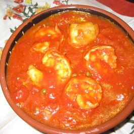 smoky shrimp and artichoke ragout with bucatini