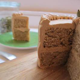 Coffee Cardamom Cake + Coffee Buttercream
