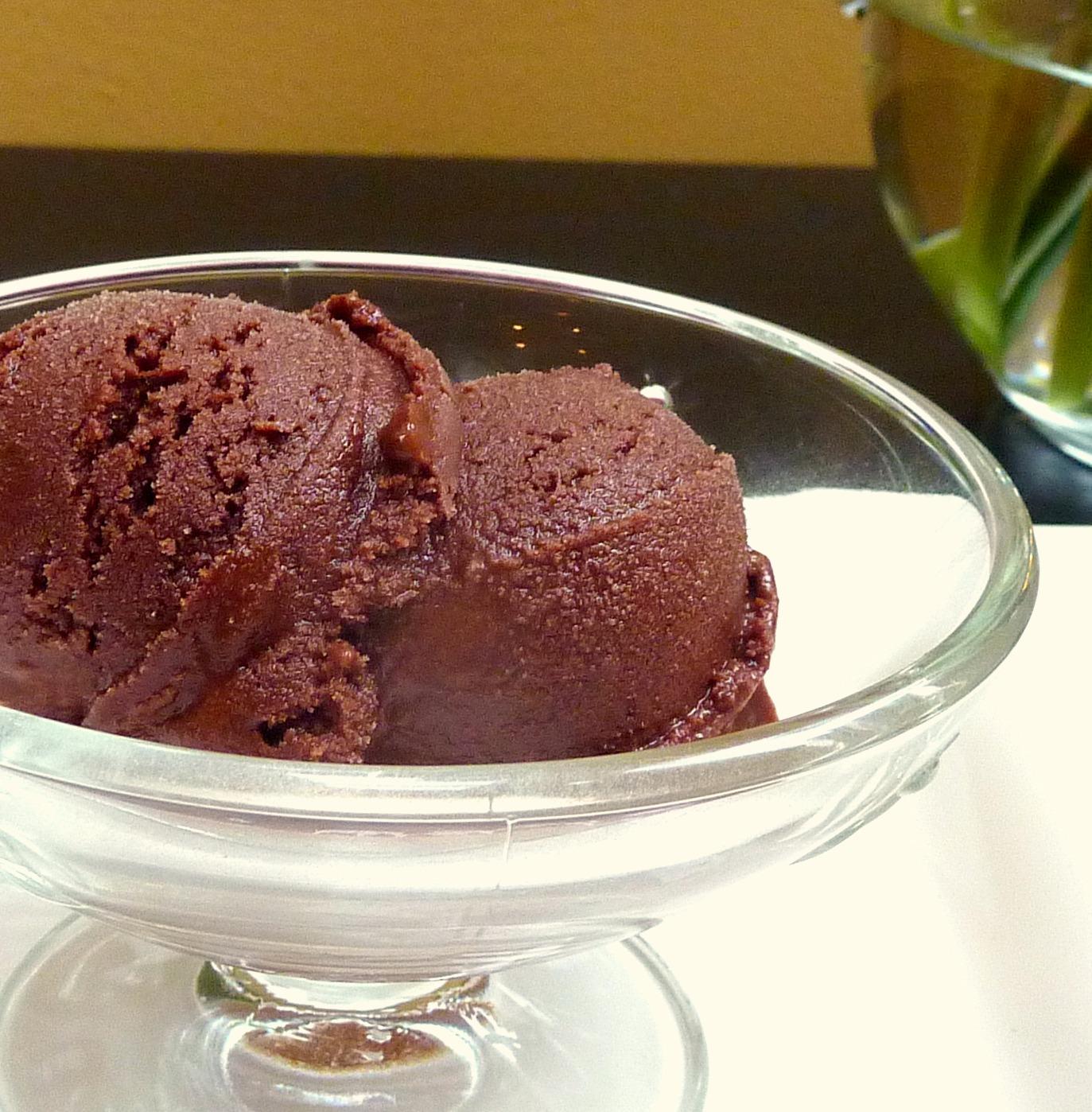 Chocolate Cardamom Sorbet