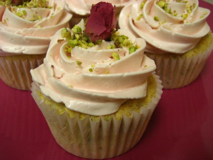Pistachio Cake Rose Frosting