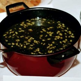 Mulukhiya (Middle Eastern Chicken and Greens Soup)