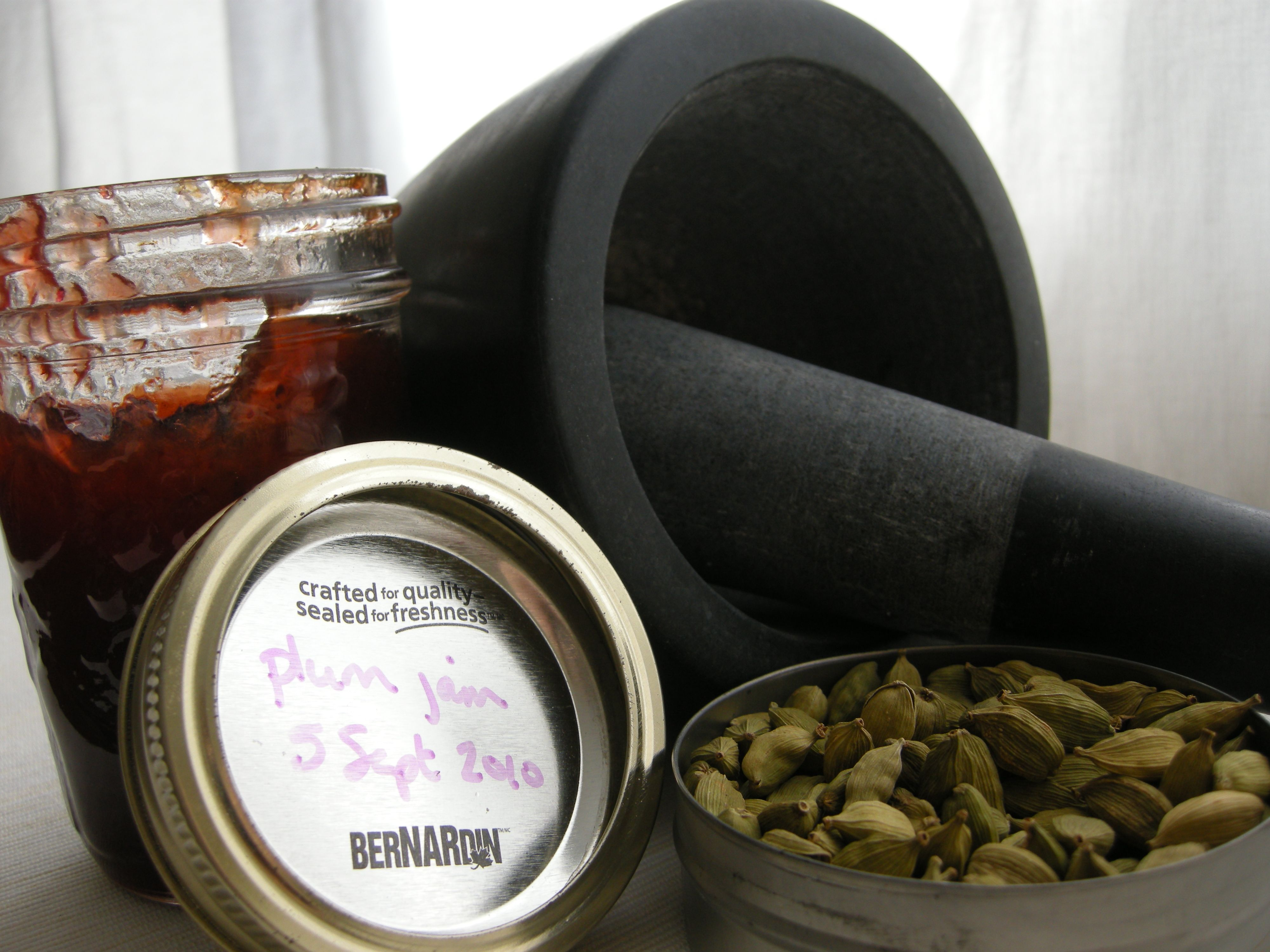 Cardamom  plum souffles