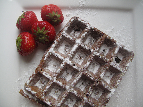 The best chocolate wholewheat waffles, ever!
