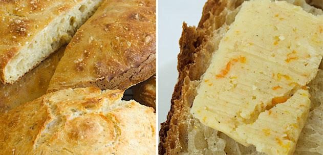 Orange, Honey and Cardamom Dutch Oven Bread with Orange Cardamom Compound Butter