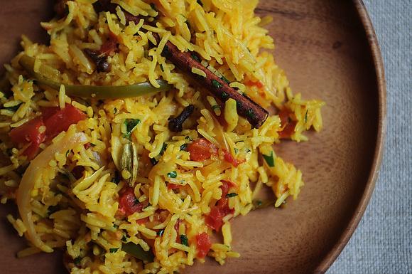 Tomato Rice (Tamatar Biryani)