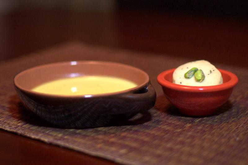 Cardamom Coconut Pots de Creme with Pistachio Shortbread