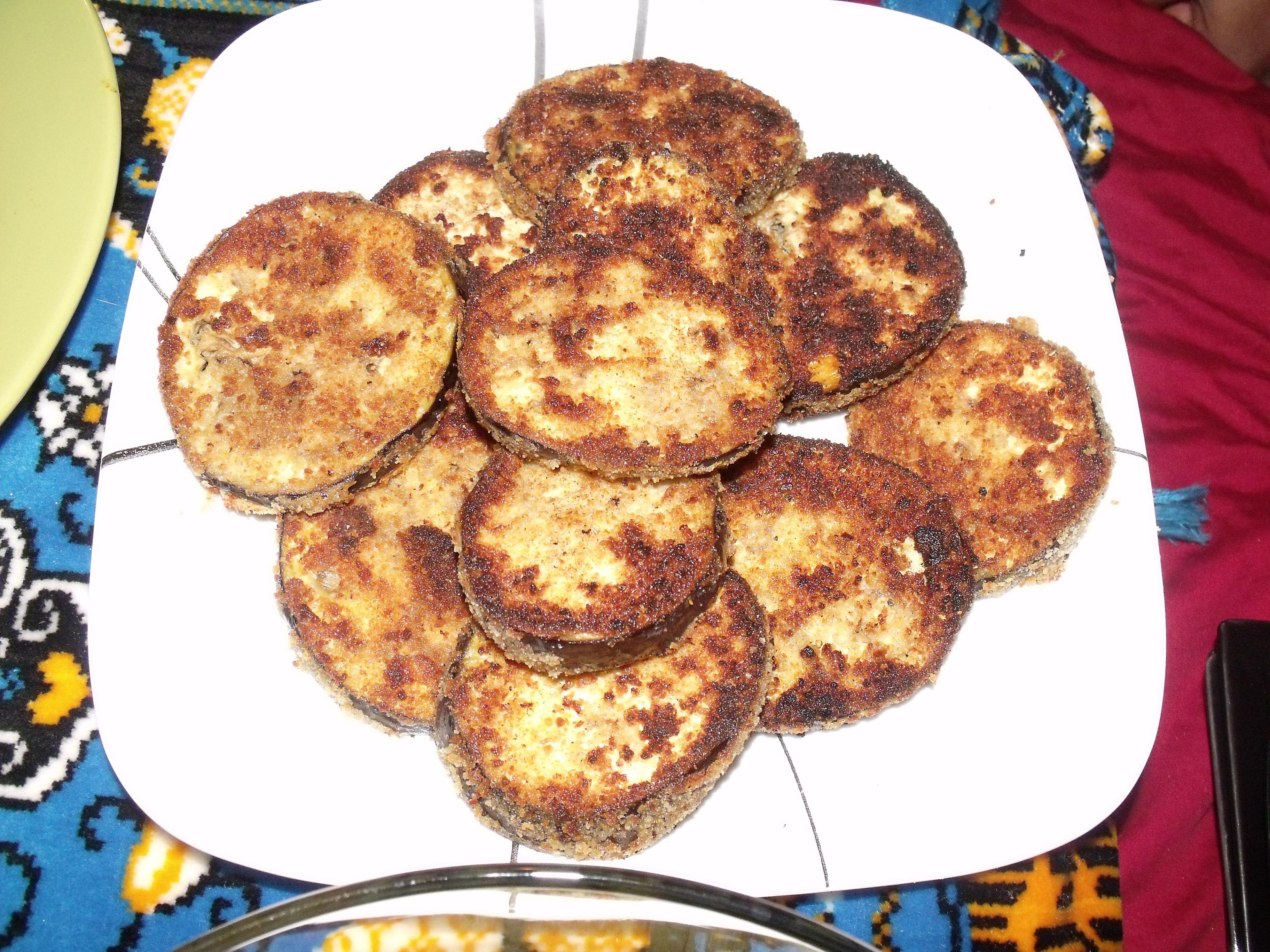 Aubergines Frits