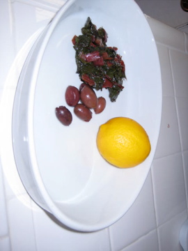Red Chard with Olives and Lemon