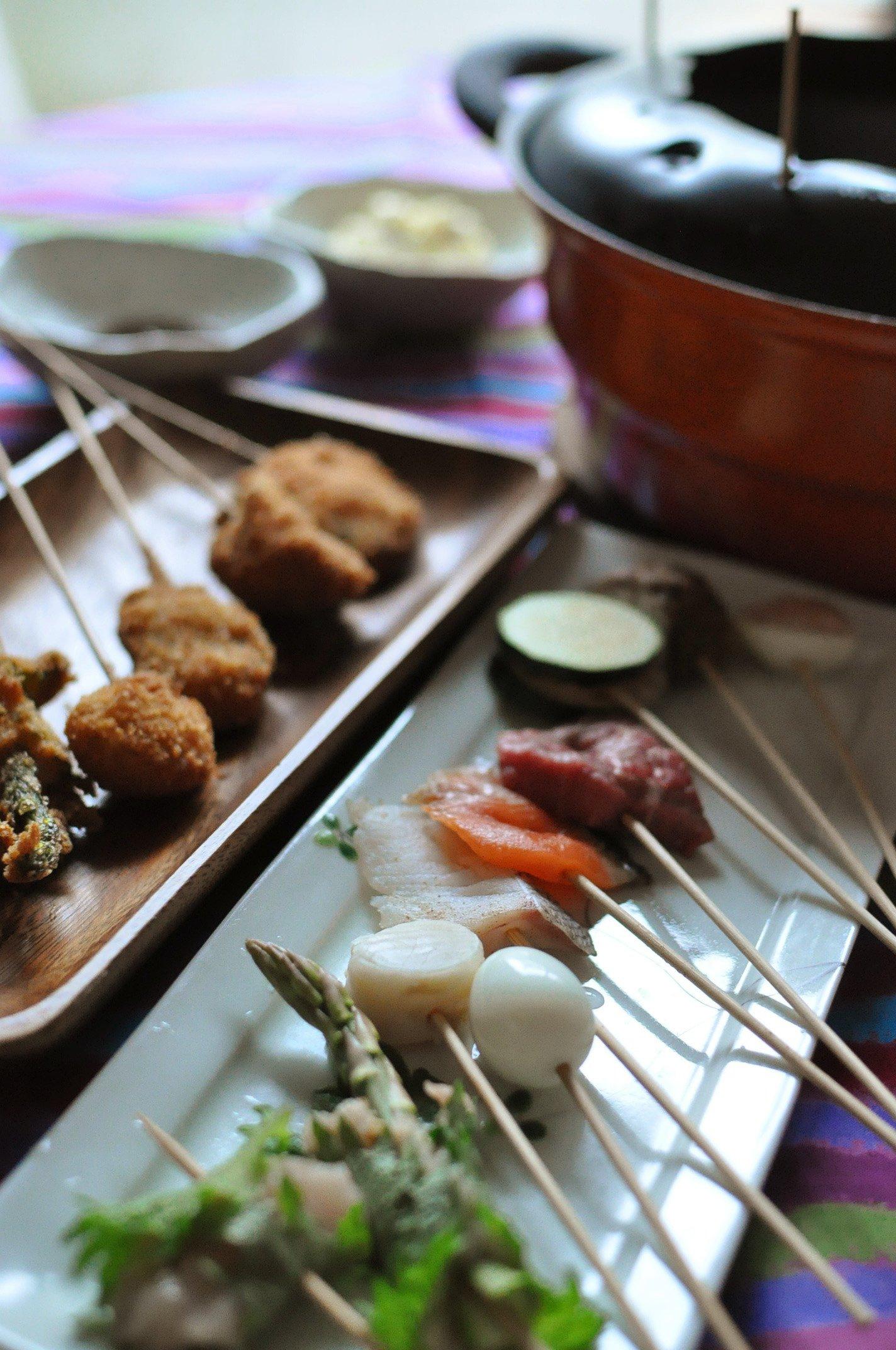 Kushiage (Japanese style oil fondue)