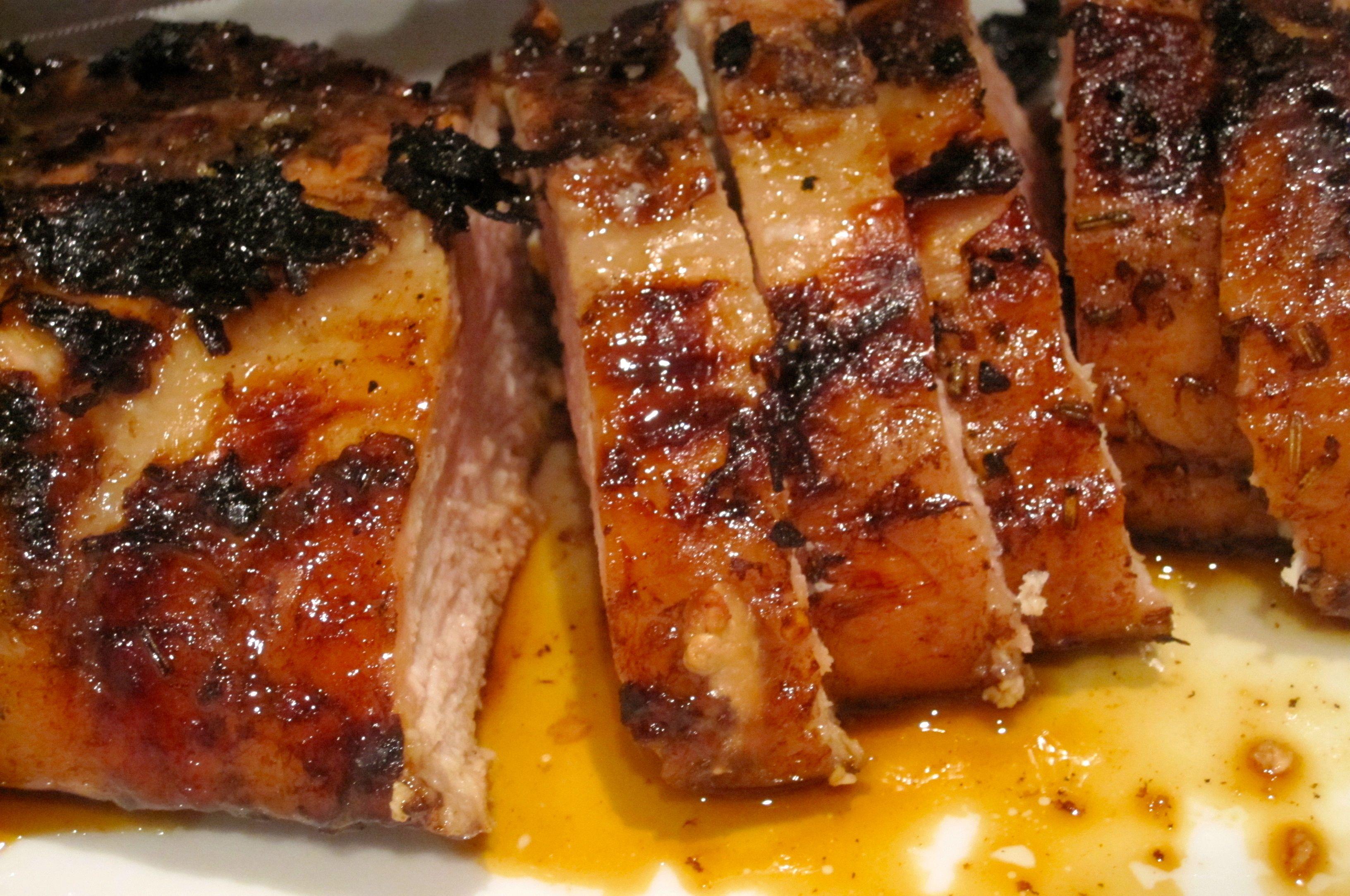 Balsamic Vinegar-Red Pepper Marinated Pork Tenderloin