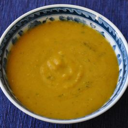 Roasted Winter Squash Red Lentil Soup