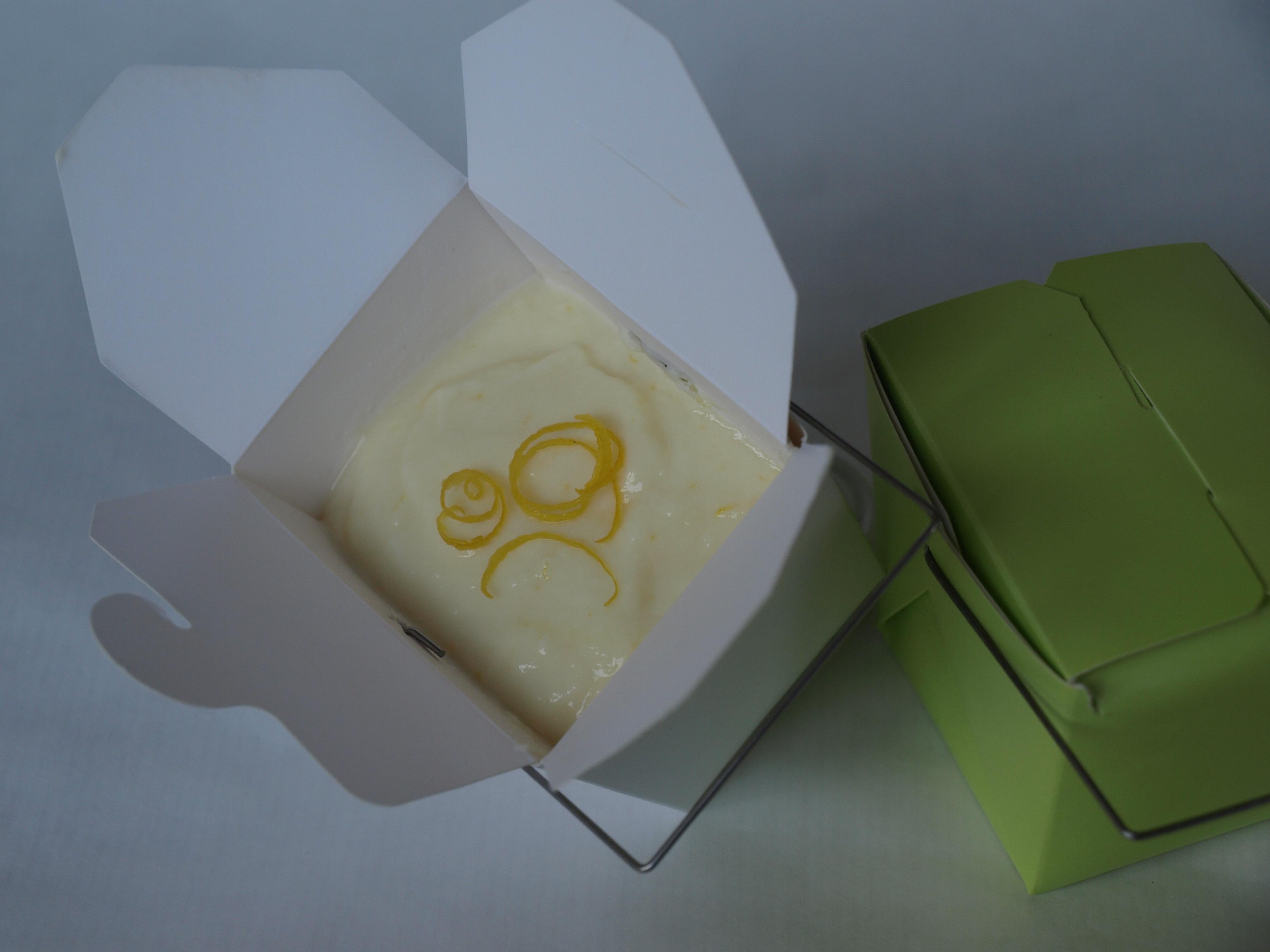 Meyer Lemon Pudding to-go