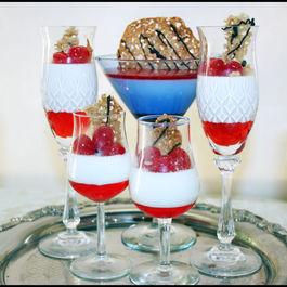 Maraschino Cherry Panna Cotta