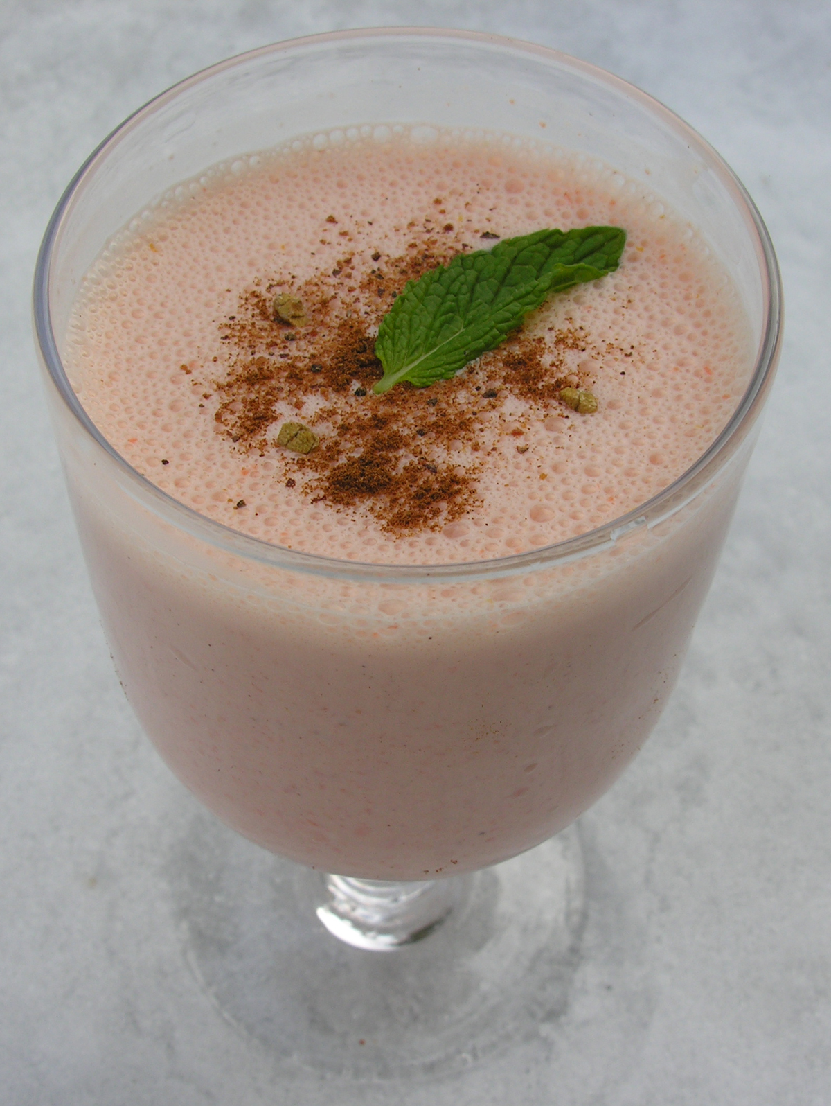 Spiced maple carrot lassi: iced or warm