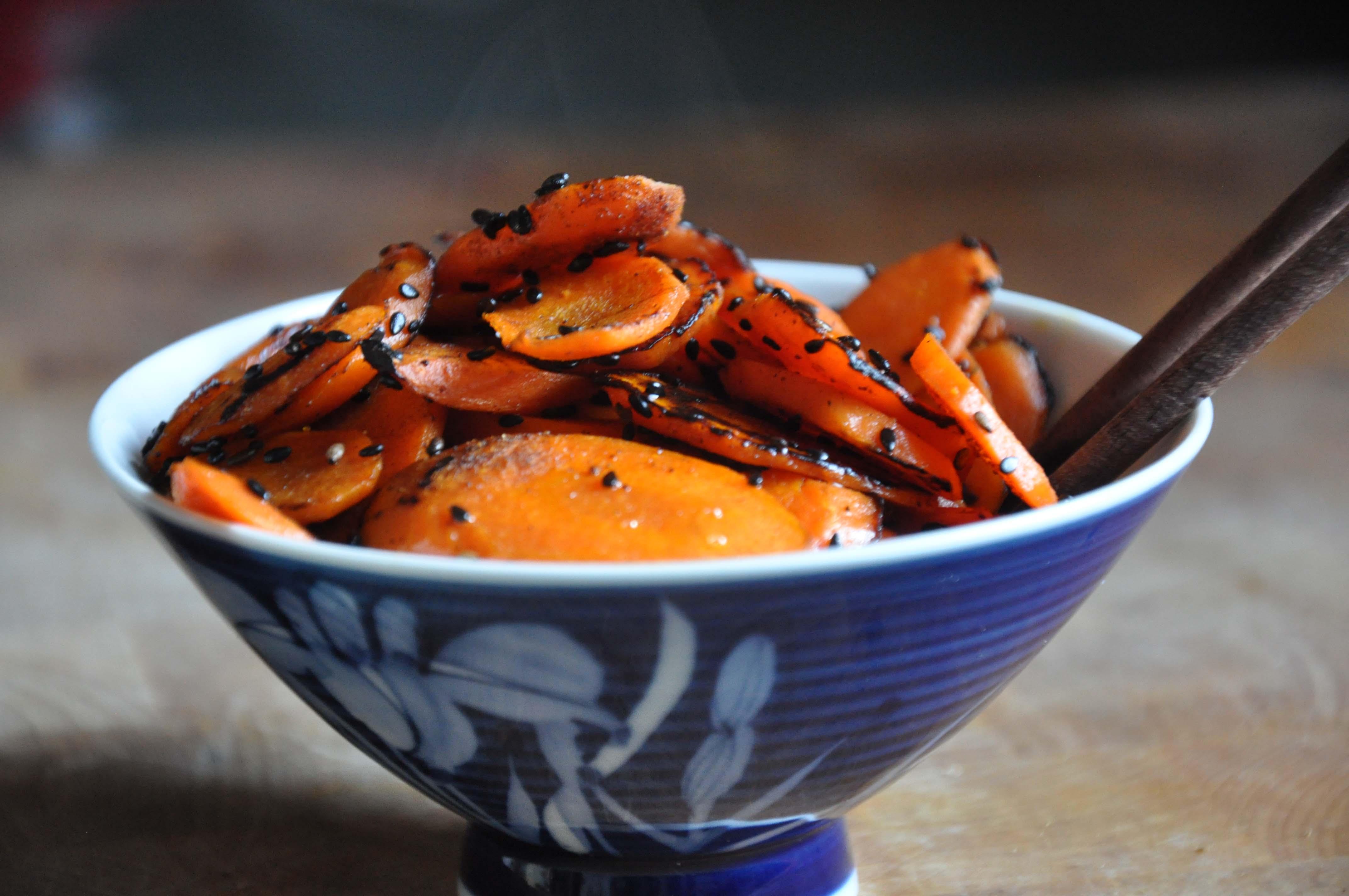 Crispy Sesame Carrots