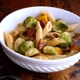 Penne with Brown Butter Brussels Sprouts & Butternut Squash