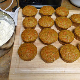 Curveball Carrot Cake Cupcakes