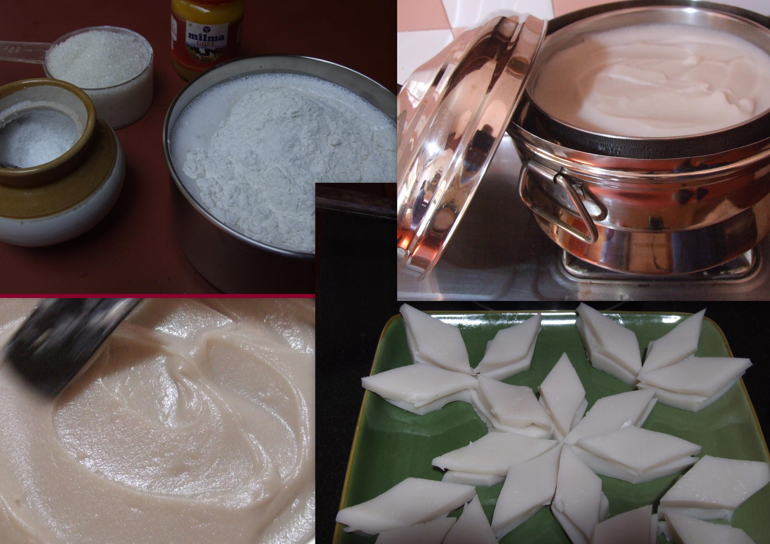 Kinnathappam (a coconut dessert)Steamed Pancake