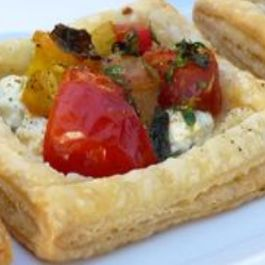 Savory Fire Roasted Pepper and Feta Tartlet