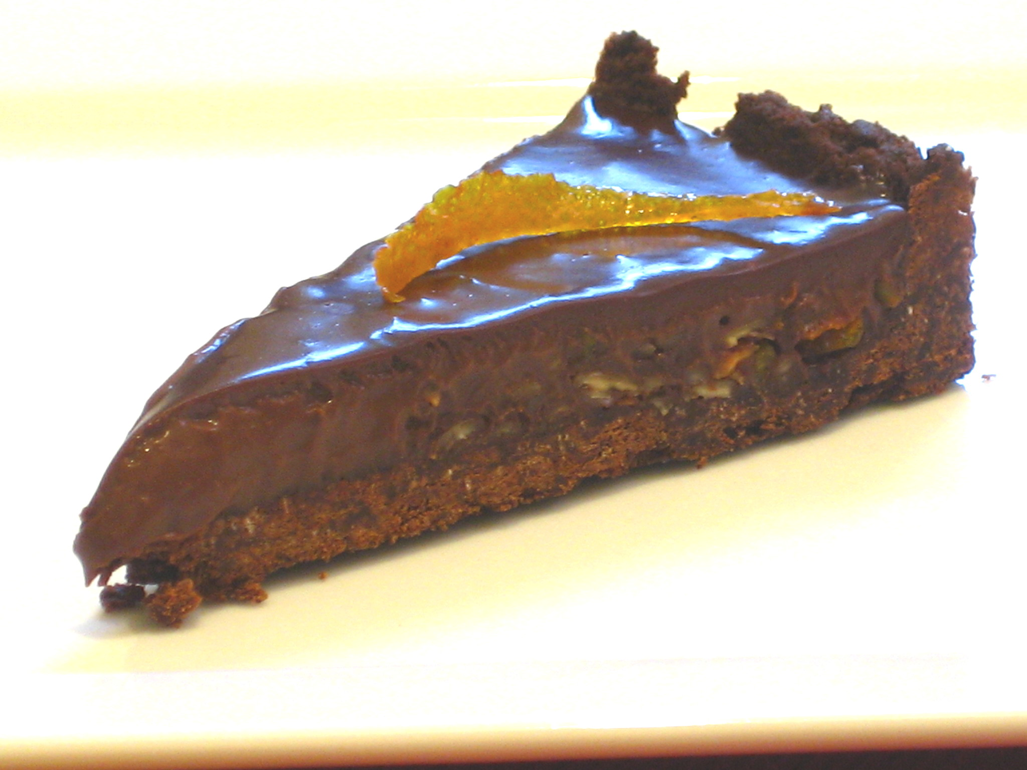 Dark Chocolate & Candied Orange Tart