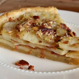 Potato Tart with Gruyere, Bacon, and Rosemary
