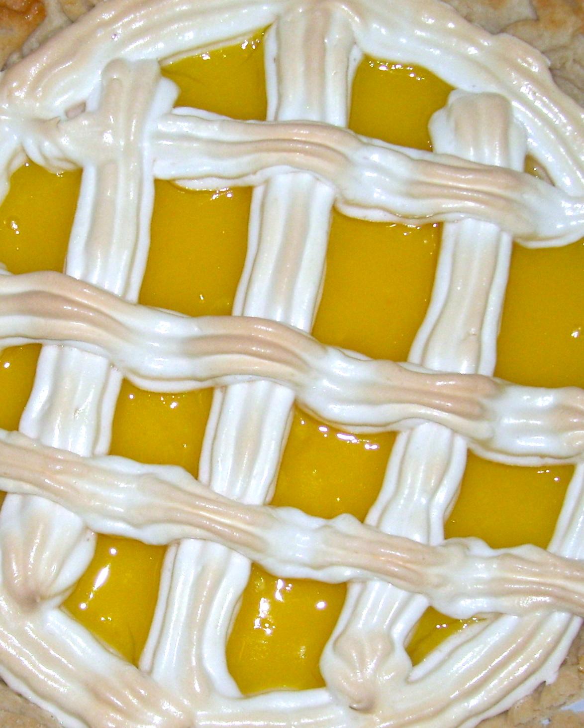Meyer Lemon Meringue Lattice Tart