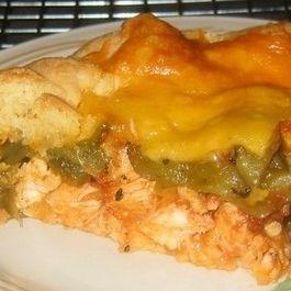Chicken & Chile Relleno Tart