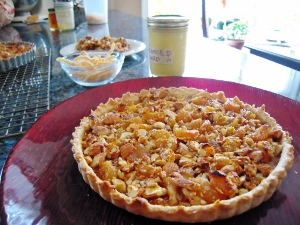 ALMOND, ORANGE, AND DRIED APRICOT TART