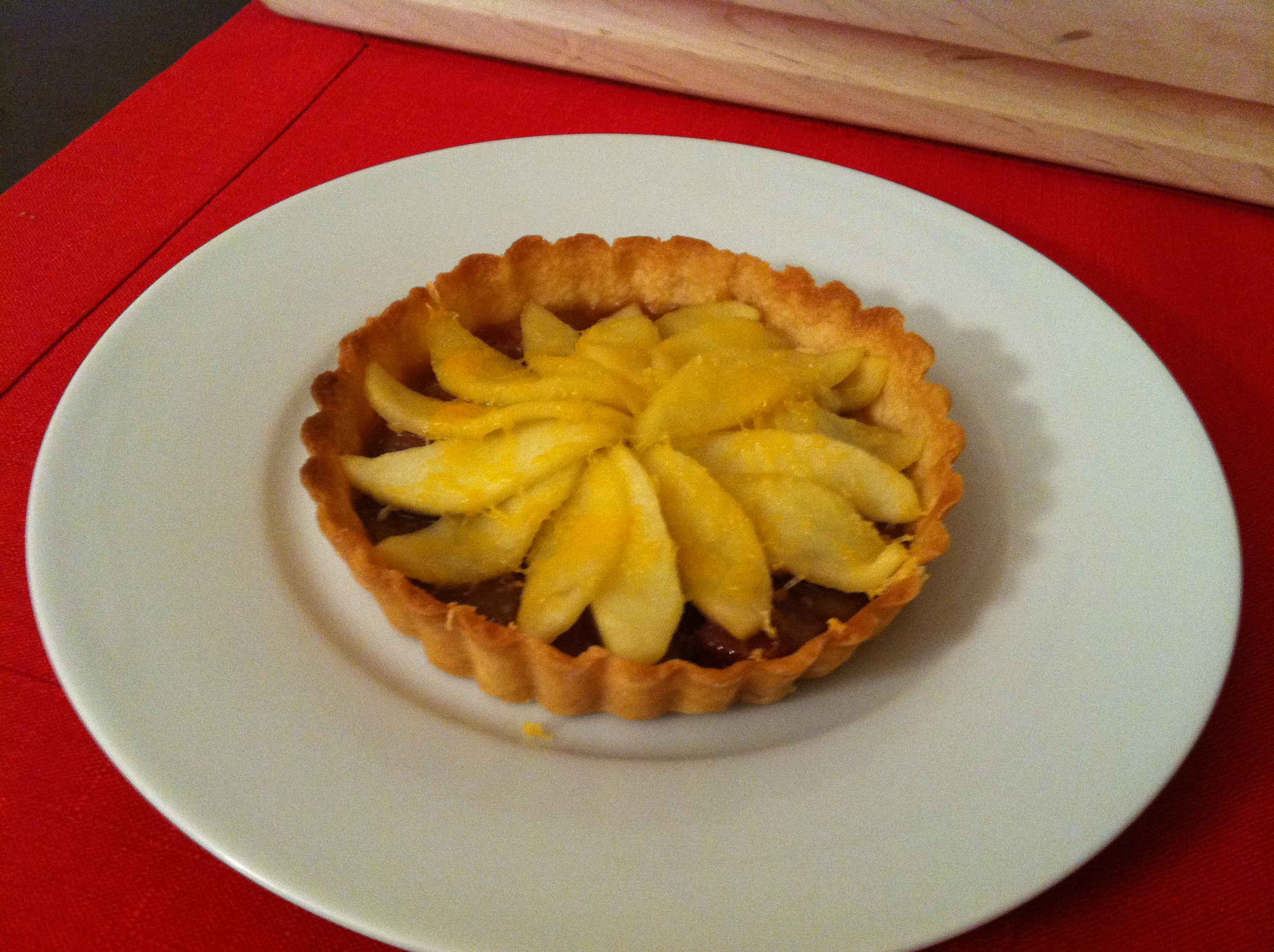 ABC Tart: Apple, Bacon and Cheddar