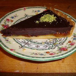 Dark Chocolate Tart with Kumquat Marmalade